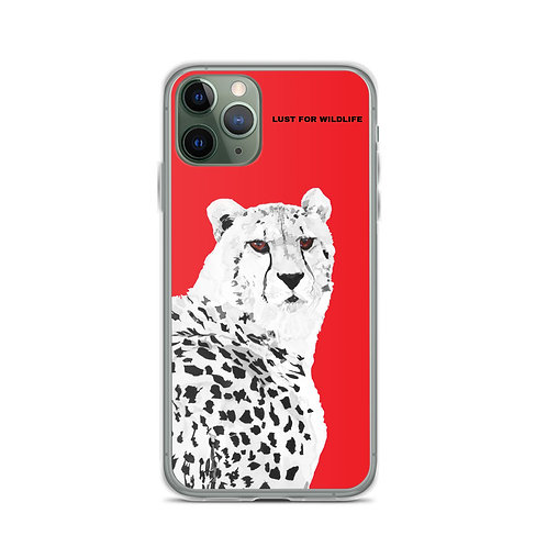 Cheetah No.2 Red iPhone Case
