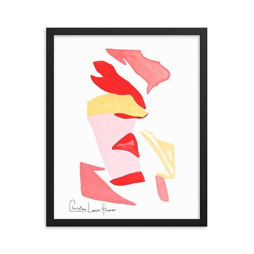 Flamingo Abstract No.2 Framed Print