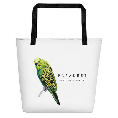 Parakeet White Tote Bag