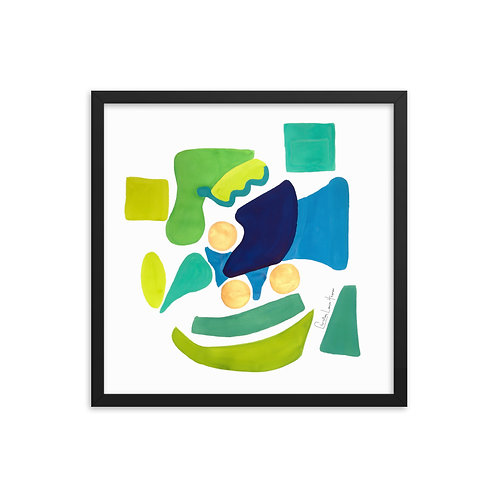 Peacock Abstract No.1 Framed Print