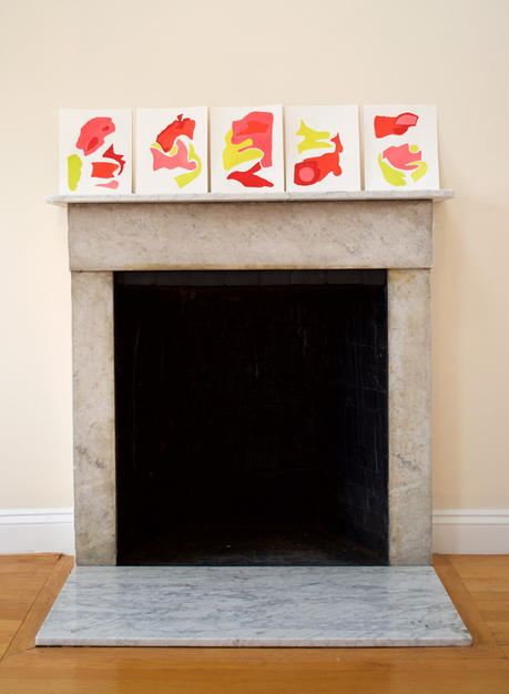 Flamingo Abstract No.7,8,9,10,11