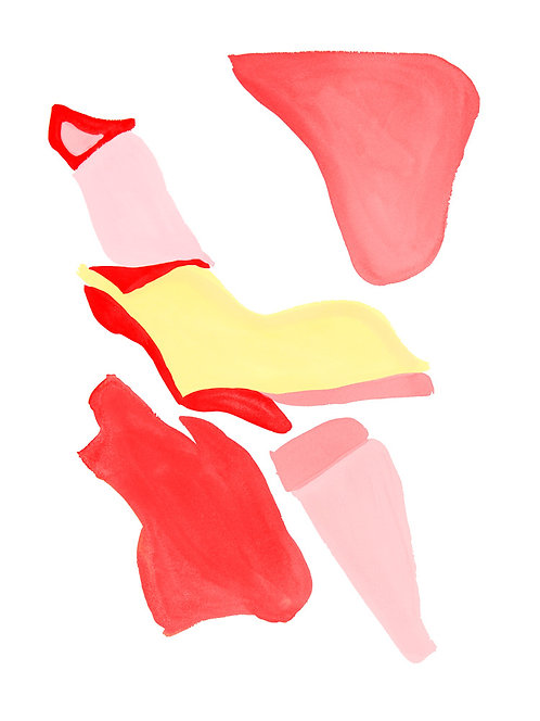 Flamingo Abstract No.1
