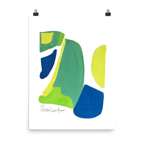 Peacock Abstract No.4 Print
