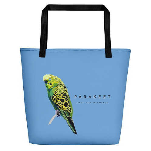 Parakeet Blue Tote Bag