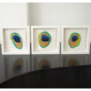 Peacock Abstract No.5,6,7 (SOLD)