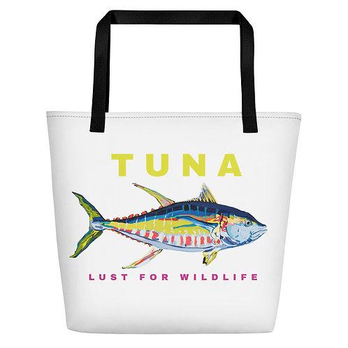 Yellowfin Tuna White Tote Bag