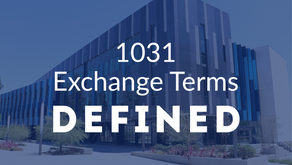 1031 Exchange Terms Defined