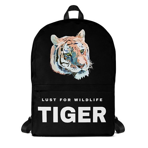 Tiger Black Backpack