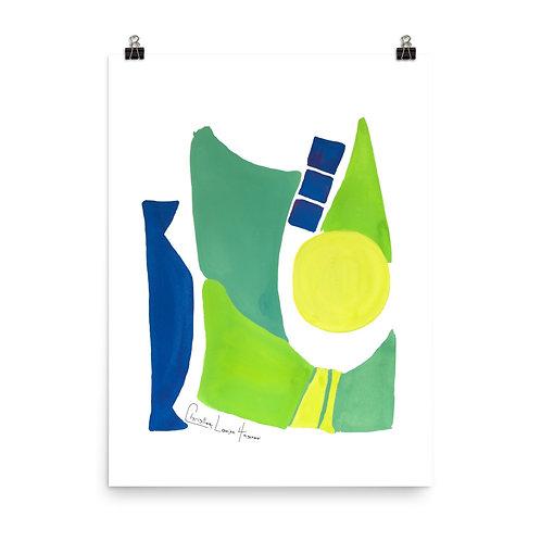 Peacock Abstract No.3 print