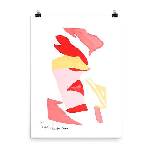 Flamingo Abstract No.2 Print