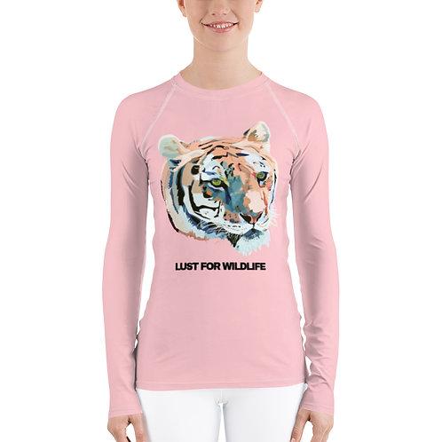 Pink Tiger Women's Rash Guard