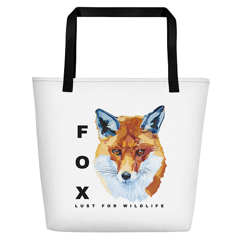Fox White Tote Bag