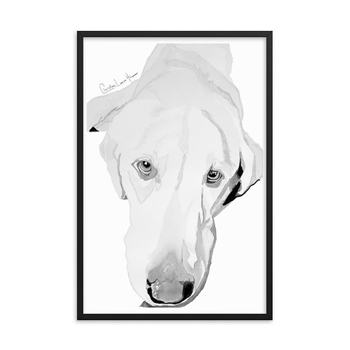 Max Long Face Framed Print