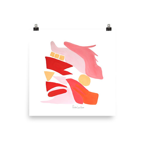 Flamingo Abstract No.12 Print
