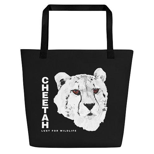Cheetah Black Tote Bag
