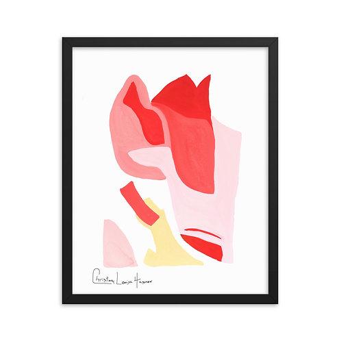 Flamingo Abstract No.3 Framed Print