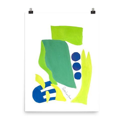 Peacock Abstract No.2 Print