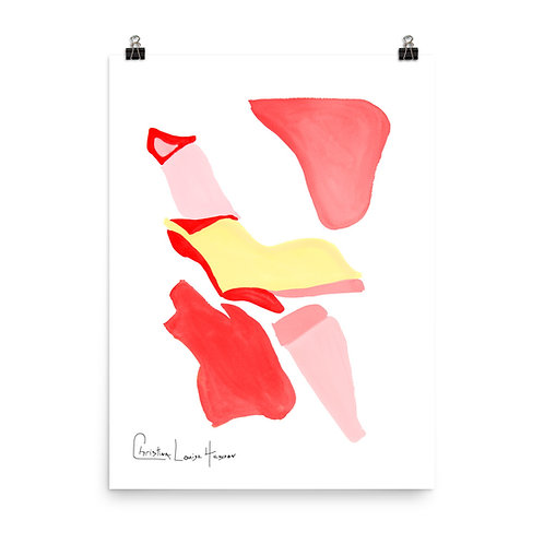 Flamingo Abstract No.1 Print