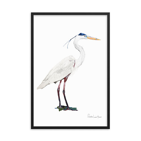 Heron No.6 Framed Print