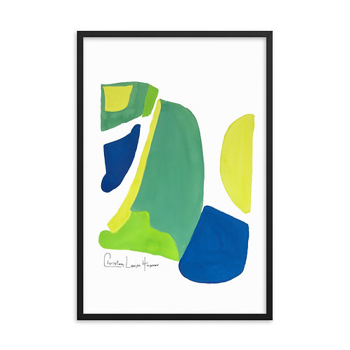 Peacock Abstract No.4 Framed Print