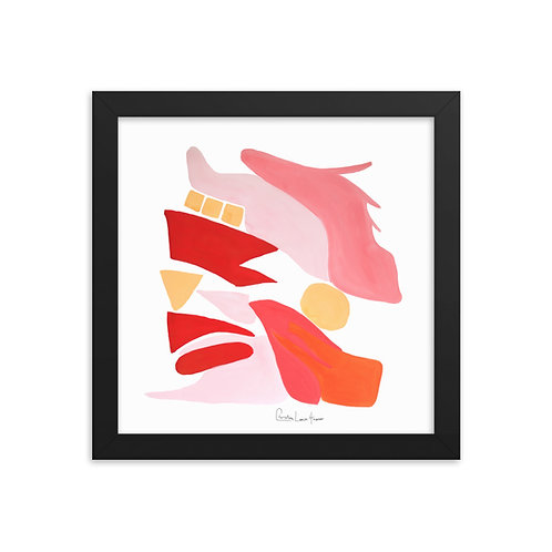 Flamingo Abstract No.12 Framed Print