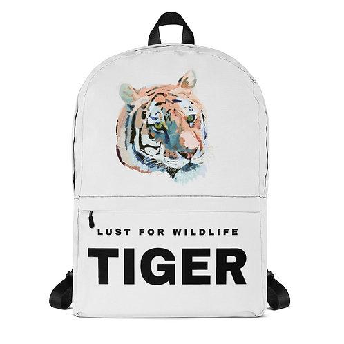Tiger White Backpack