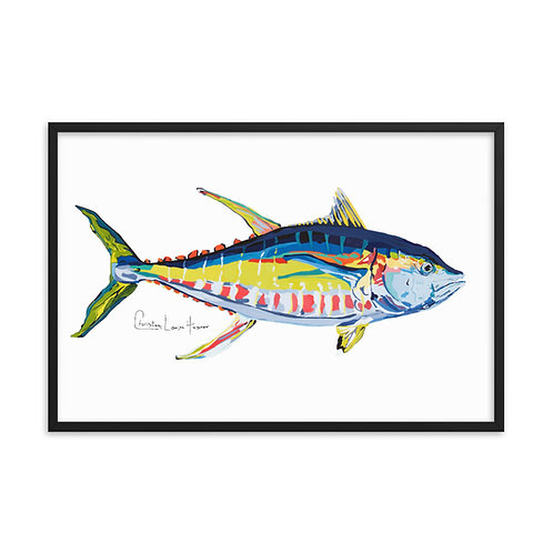 Yellowfin Tuna Framed Print