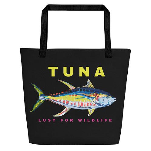 Yellowfin Tuna Black Tote Bag