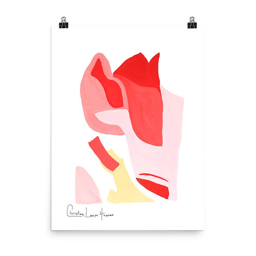 Flamingo Abstract No.3 Print