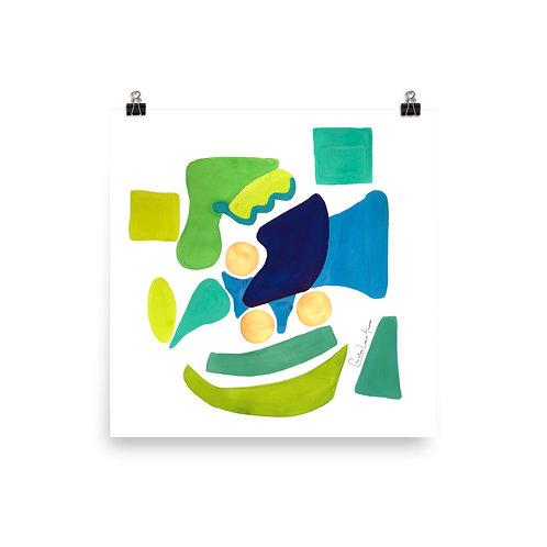 Peacock Abstract No.1 Print
