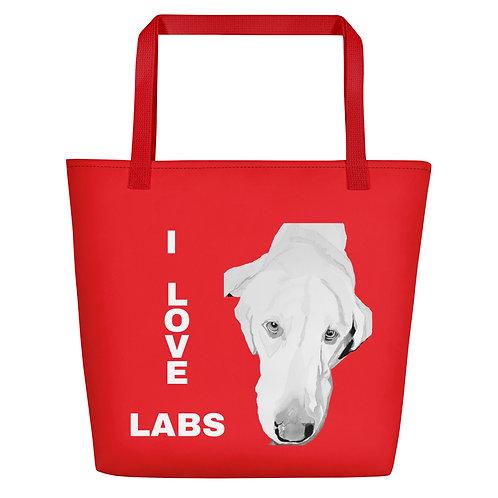 RED LABRADOR Tote Bag
