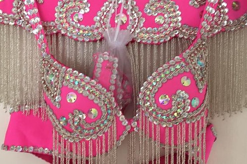 Barbie Pink and Silver Bra and Belt