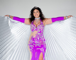 Fuscia Belly Dance Dress