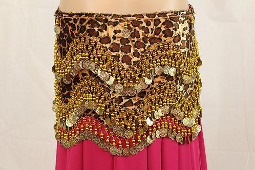 Leopard Print Hip Scarves
