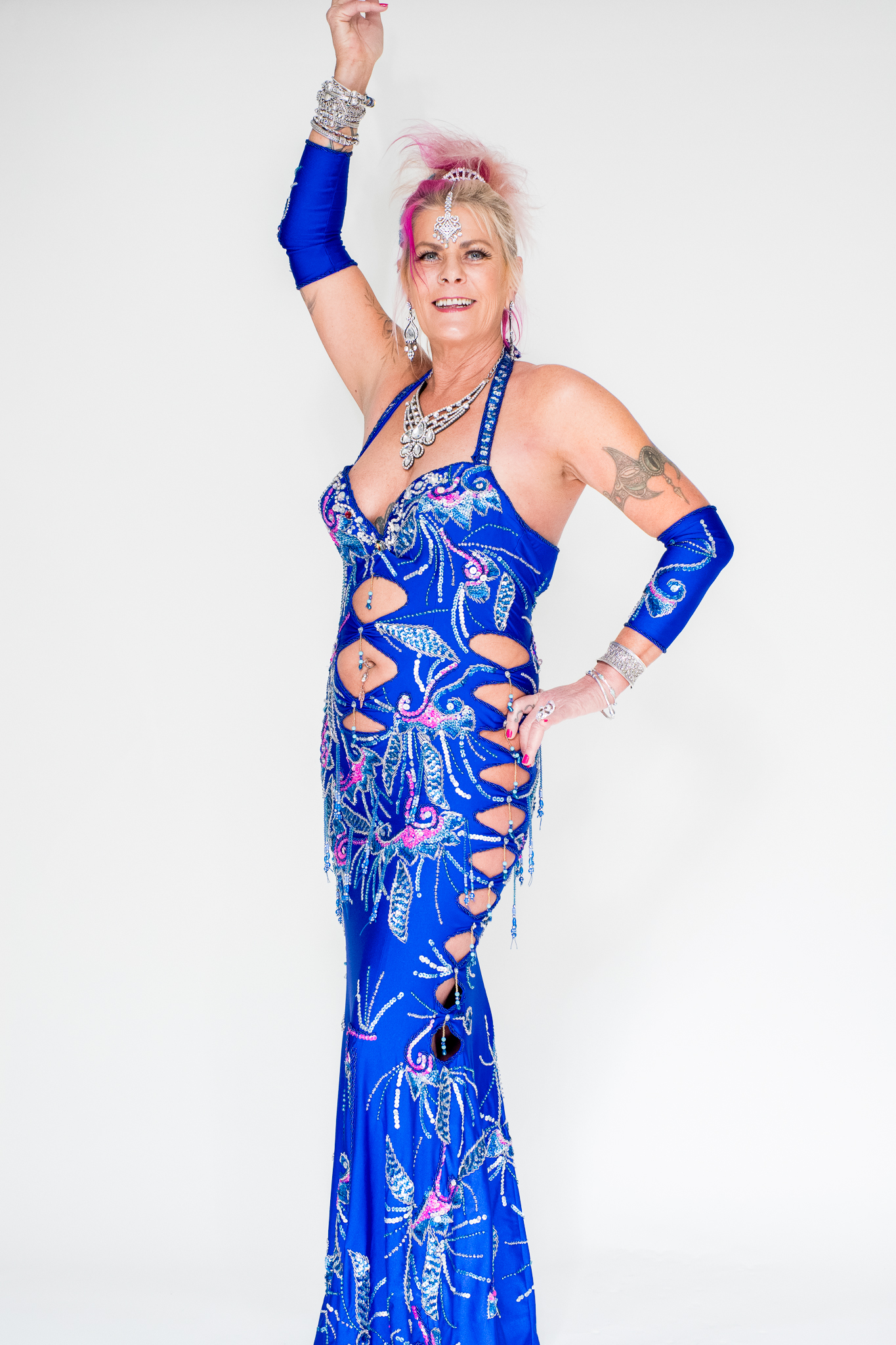 Blue belly dance dress