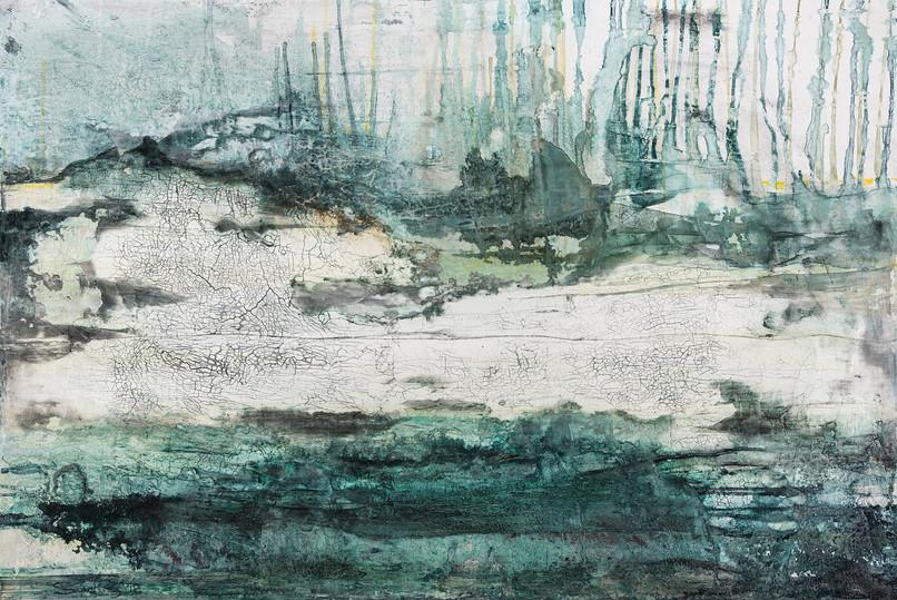 Flussbett I, 120x80 cm