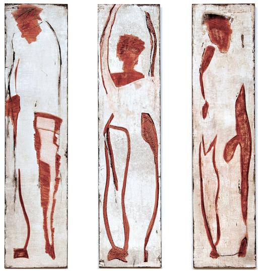 Triptichon Gubio Abstrakt, 170x40 cm.
