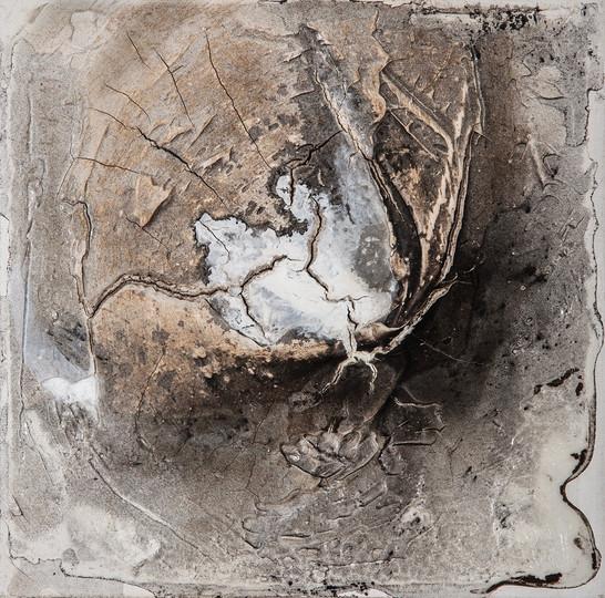 Erde III, 25x25 cm