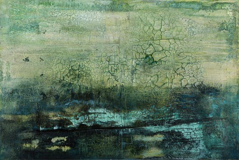 Flussbett II, 120x100 cm