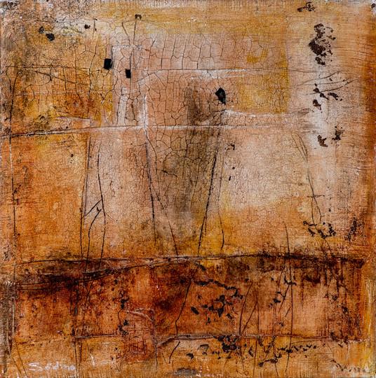 Steinzeichen I, 50x50 cm