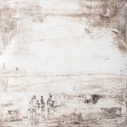 Begegnung III, 80x80 cm