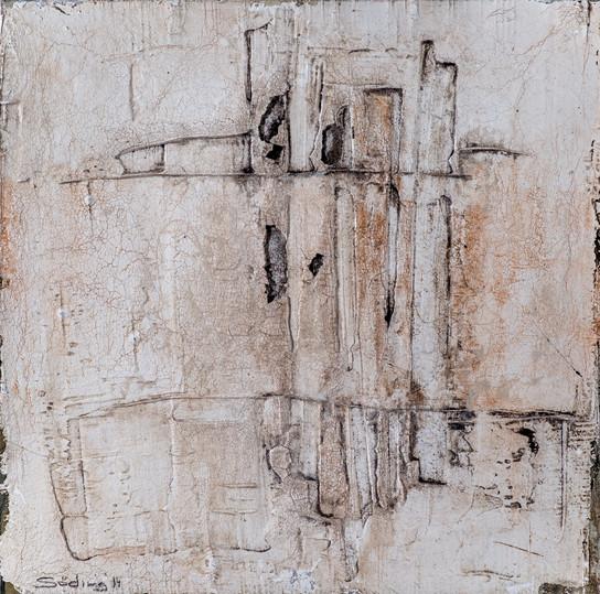 Steinzeichen II, 50x50 cm