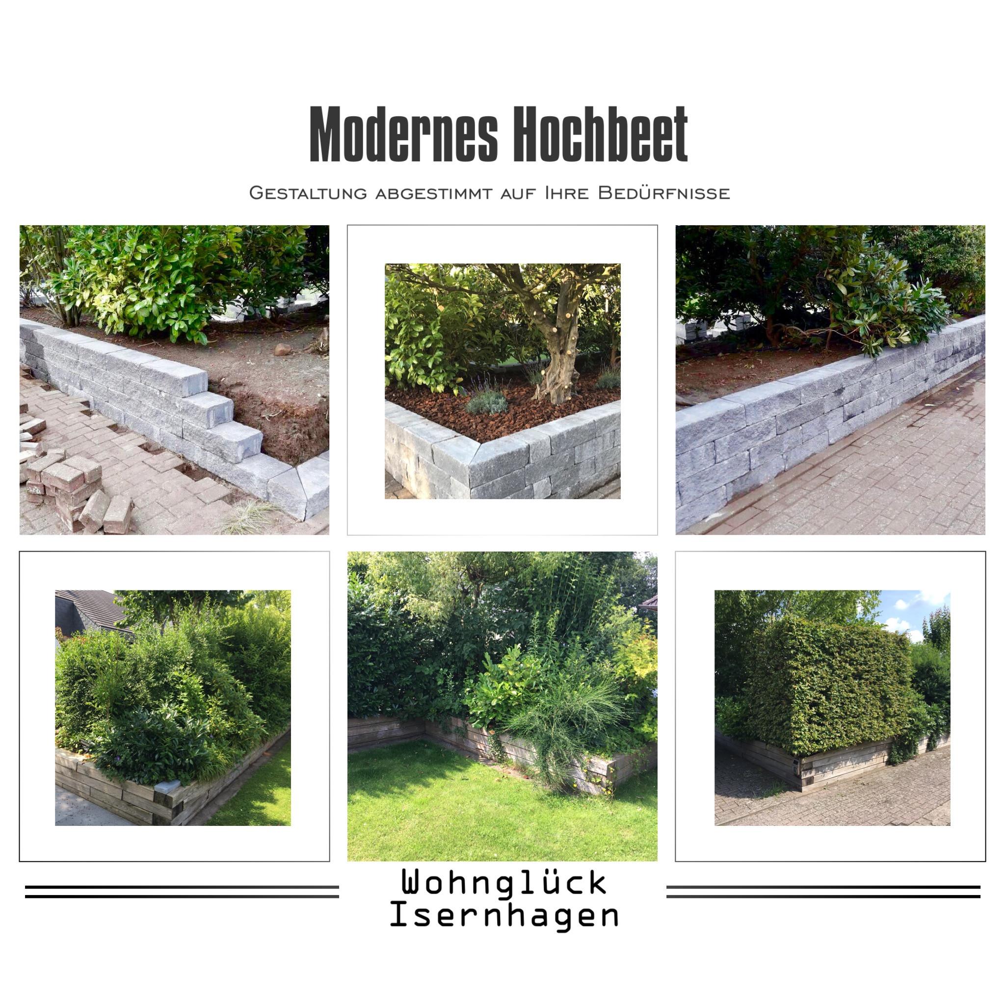 Modernes Hochbeet Mit Begrunung Als Sichtschutz Statt Zaun