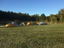Camping on the field
