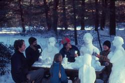 Snow tea party