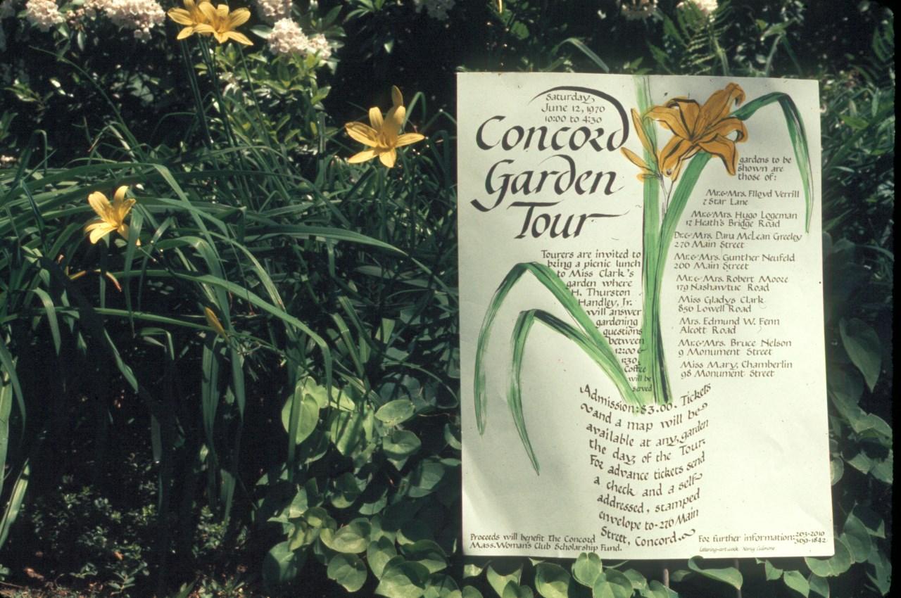 Garden sign 1976