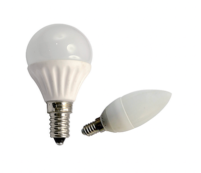 LIGHTUP LED Bulb 3W E14 Candle or Globe