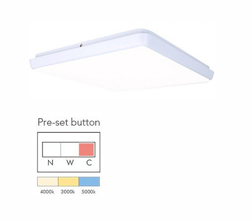 LIGHTUP LED Ceiling Mounted Light Square