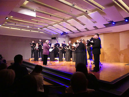 The Kansas City Chorale performs at the 1900 Building