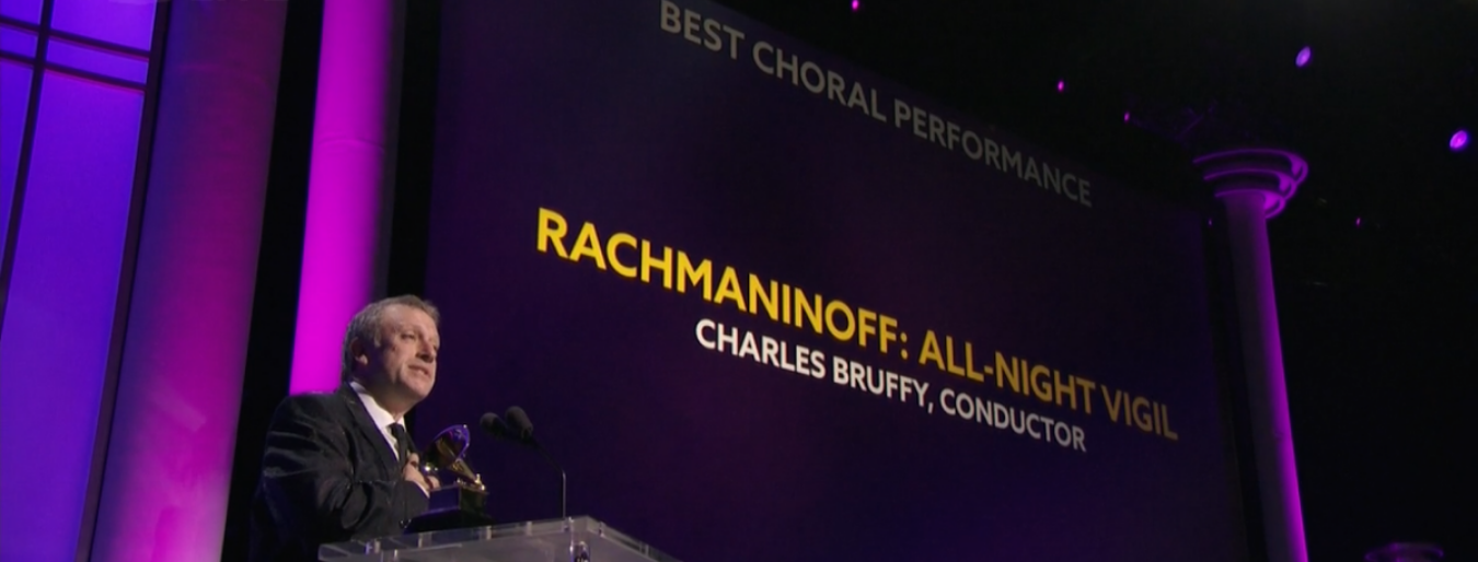 Charles Bruffy wins the Grammy Award for Best Choral Performance